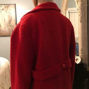 Rafaella Jackets & Coats - Tweed career blazer red Sz 8. Worn once.